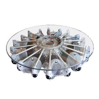 Nine Cylinder Radial Aircraft Engine Coffee Table