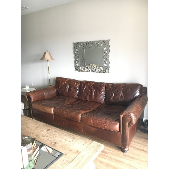Leather Sofas For Sale In Northern Ireland: Restoration Hardware Original Lancaster Leather Sofa