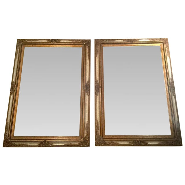 Image of Antique Gold Mirrors - A Pair