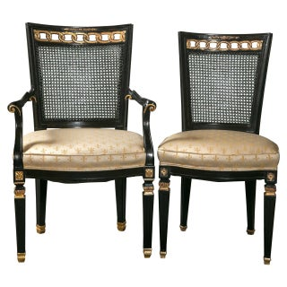 Dining Chairs in the Manner of Jansen - Set of 8