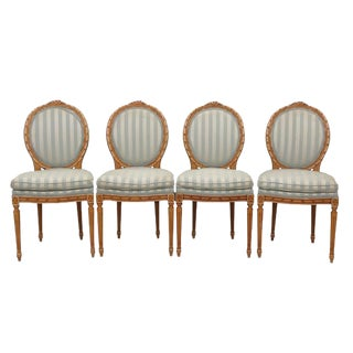Louis XVI Stryle Oval Back Dining Chairs - Set of 4