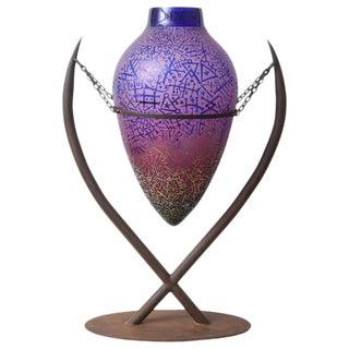 "Art Glass Vase ""Symbols"""