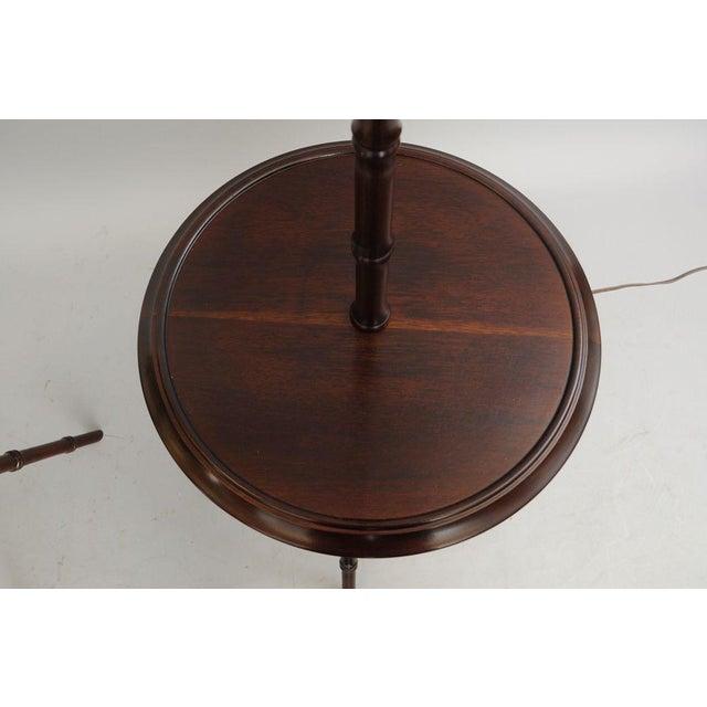 Chinese Chippendale Faux Bamboo Lamp Tables - A Pair - Image 8 of 11