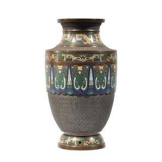 Japanese Bronze & Champleve Vase
