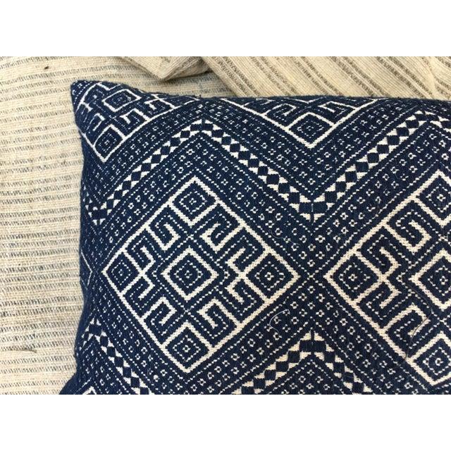 Antique Hand Woven Wedding Quilt Pillow - Image 3 of 6