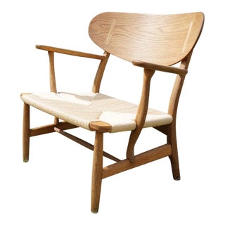 Hans Wegner Danish Modern CH22 Oak Chair