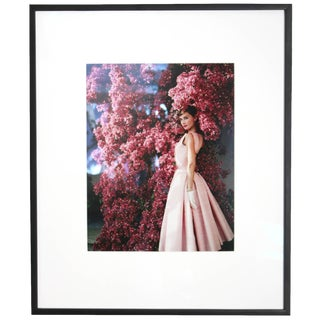 Audrey Hepburn With Flowers 1955 Archival Print