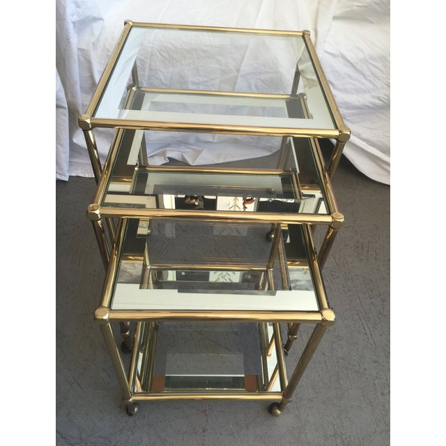 Brass Nesting Tables, Pace Style - Set of 3 - Image 2 of 5