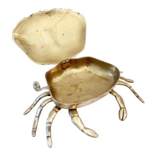 Brass Crab Trinket Box