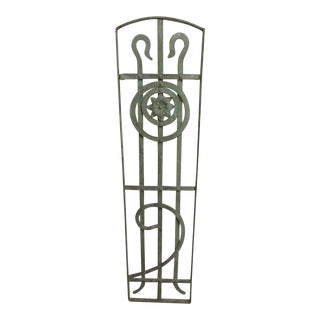 Antique Victorian Iron Gate Window Garden Fence Architectural Salvage Door #205