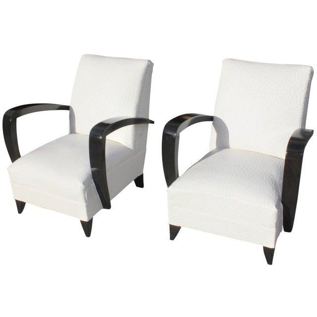 French Art Decor Club Chairs - A Pair - Image 1 of 10
