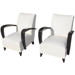 French Art Decor Club Chairs - A Pair