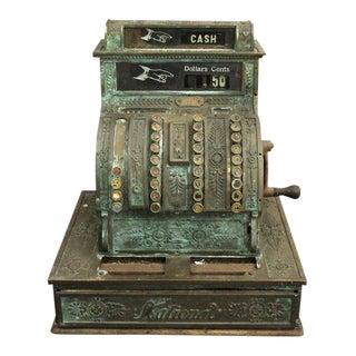 Vintage Bronze National Cash Register