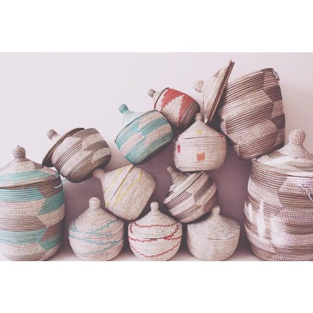 Vintage Aqua Senegal Basket - Image 3 of 3