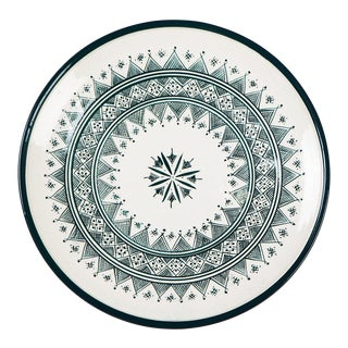 Zitouna Green & White Plate