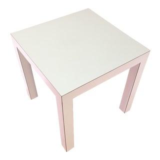 Vintage White Matte Laminate Parsons Table