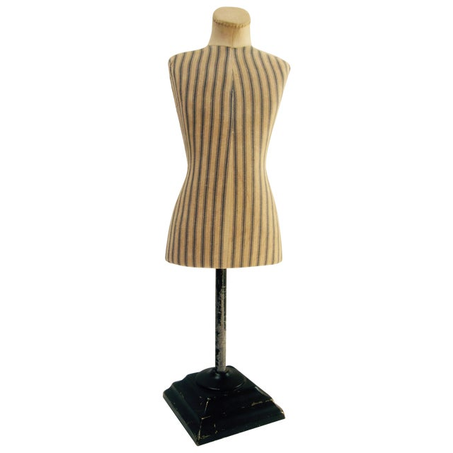 Antique French Miniature Dress Form Mannequin - Image 1 of 11