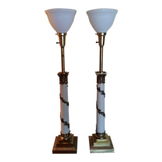 French Empire Neoclassical Stiffel Table Lamps - A Pair
