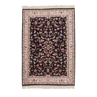 Persian Style Hand-Knotted Wool Area Rug