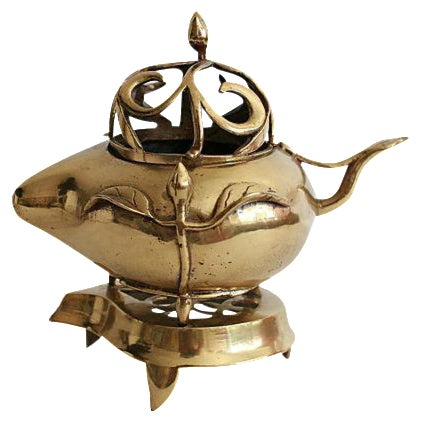 Traditional Solid Brass Warmer - 2 Pieces - Image 1 of 5