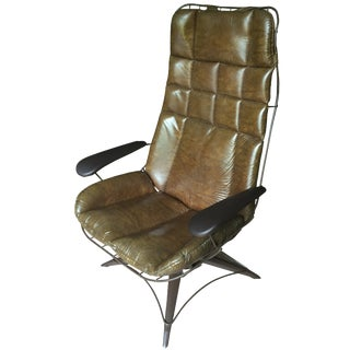 Homecrest Wire Mid-Century Lounge Chair