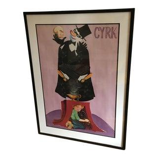 Framed Cyrk Polish Circus Lithograph