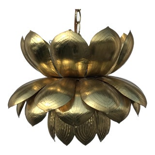 Feldman Brass Lotus Chandelier Lamp