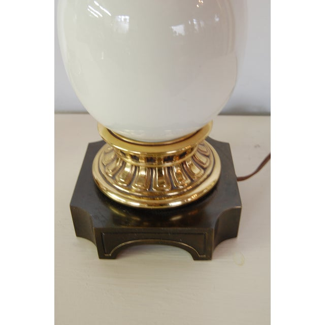 Image of Stiffel Hollywood Regency Ostrich Egg Lamps - Pair