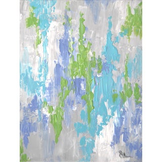 Abstract Blue Painting by C. Plowden