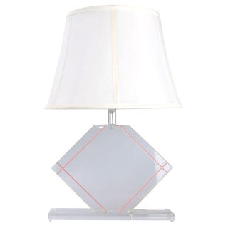 Vintage Lucite and Chrome Table Lamp