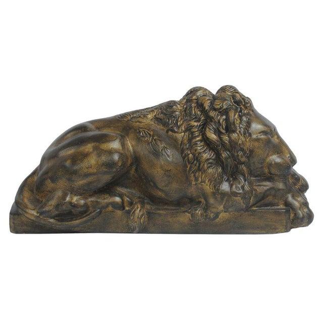 Sarreid Ltd Right Facing Cast Iron Reclining Lion - Image 2 of 3