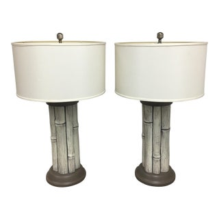 Hart Lighting Faux Bamboo Table Lamps - A Pair