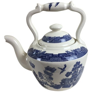 Empire Ware of England Blue & White Willow Teapot