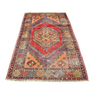 Turkish Handmade Rug - 3′7″ × 6′