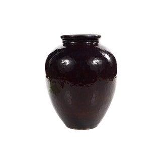 19th C. Antique Chinese Dark Burgundy Ceramic Vase