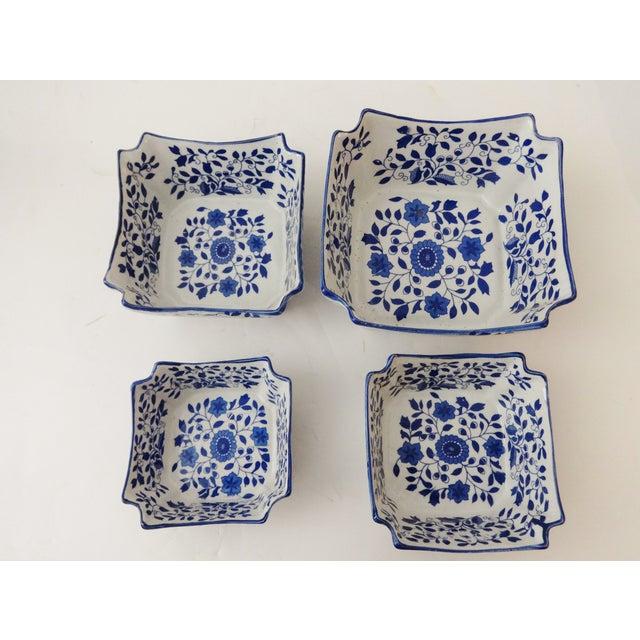 Nesting Blue & White Bowls - Set of 4 - Image 4 of 6