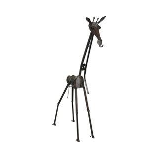 Richard Kolb Yardbirds 6.5 ft Tall Recycled Metal Giraffe Sculpture