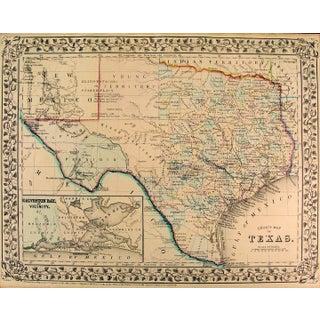 Texas Map, 1890