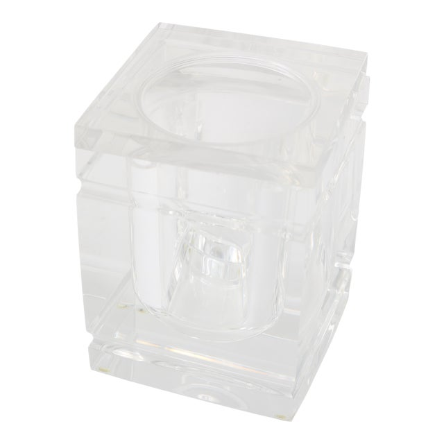 Lidded Lucite Ice Bucket - Image 1 of 9