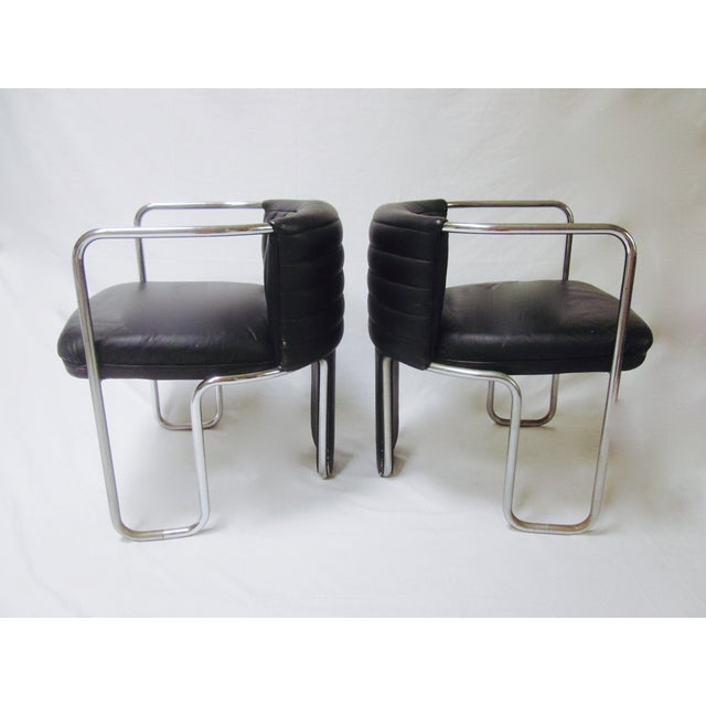 Poltrona Frau Leather Chairs- A Pair - Image 4 of 11