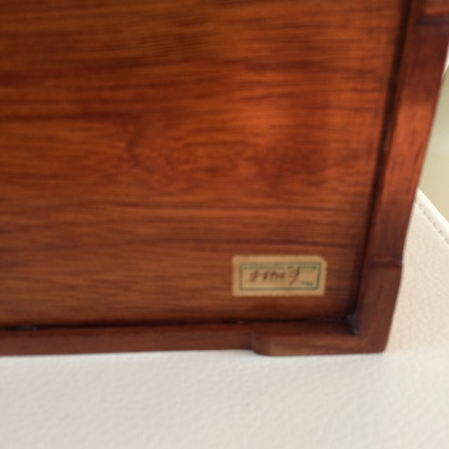 Vintage Chinese Rosewood & Brass Box - Image 5 of 6