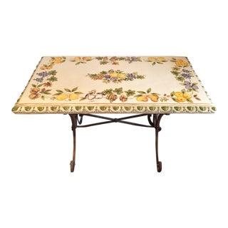 Lillian August Ceramic & Metal Indoor/Outdoor Table