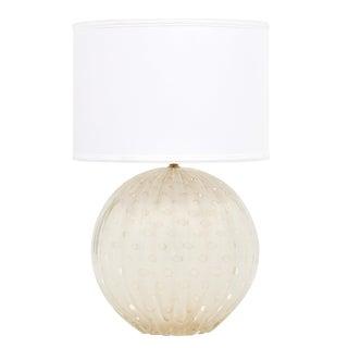 "Gold Flecked ""Pulegoso"" Murano Glass Globe Lamp"