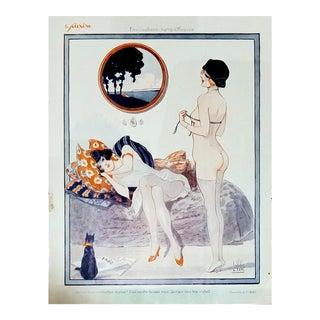 "Louis Vallet 1926 "" Precautiions"" Le Sourire Print"