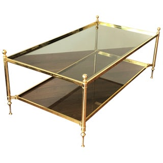 Vintage Maison Baguès Brass Coffee Table