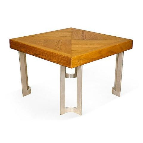 1970s Aluminum Base Coffee Table - Image 3 of 5