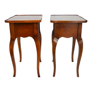 Antique Wooden Side Tables - A Pair