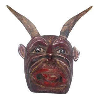 Vintage Mexican Devil Mask