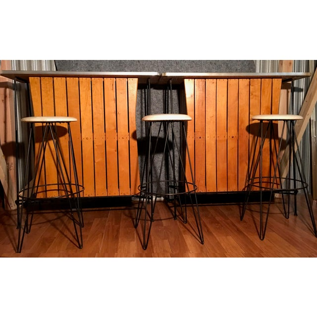 Arthur Umanoff Bar Stools - Set of 3 - Image 3 of 3
