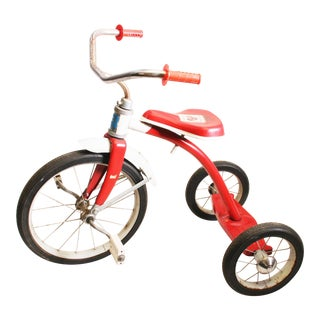 Vintage Red Metal Child's Tricycle